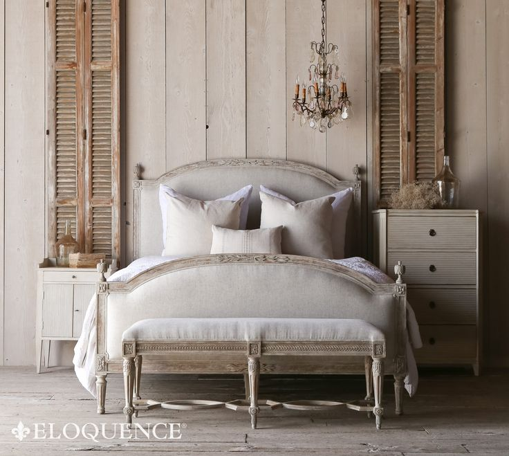 Like this bed and bench for Colby's bedroom.Eloquence, Inc.