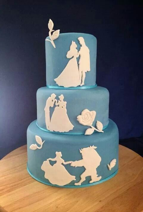 Disney princess wedding cake for when I wanted a Disney princess themed wedding...cute but no longer the plan
