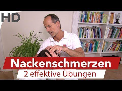 Nackenschmerzen - 2 Übungen vom Schmerzspezialisten - YouTube