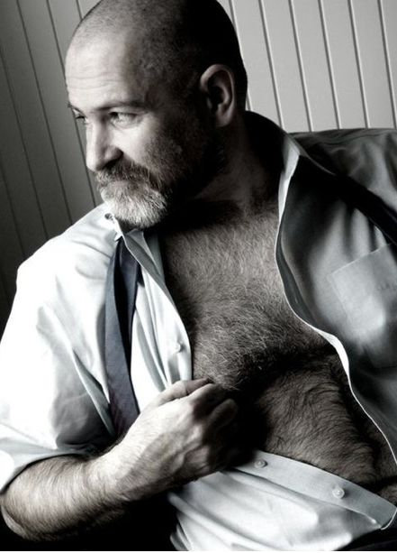 Gay men with hairy chest he deep throats 4