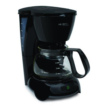 Mr. Coffee Simple Brew 4-Cup Switch Coffee Maker, TF Series, Black