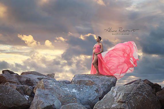 Rachel Gown mousseline de soie robe de maternité robe de