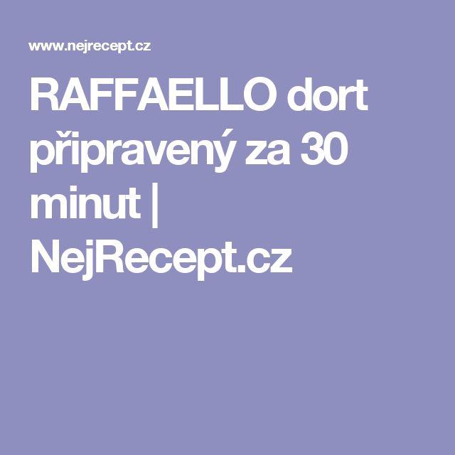 RAFFAELLO dort připravený za 30 minut | NejRecept.cz