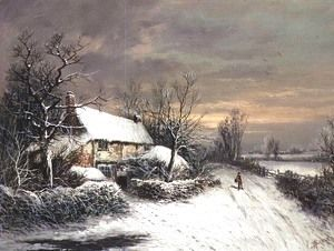 A Cottage in Winter  William Oliver Stone