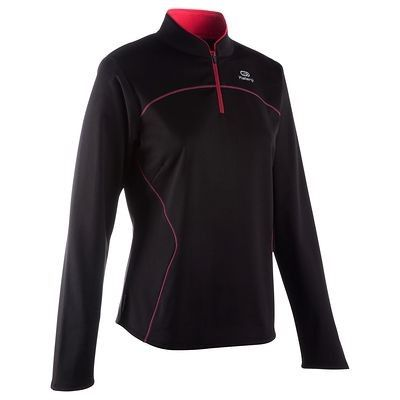 Abbigliamento running Running - Maglia EKIDEN WARM nero-rosa KALENJI - Abbigliamento running