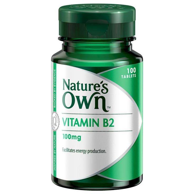 Nature's Own Vitamin B2 100mg 100 Tablets - Chemist ...