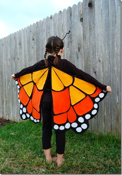 make monarch wings from felt pieces, would be a pretty skirt for me too!