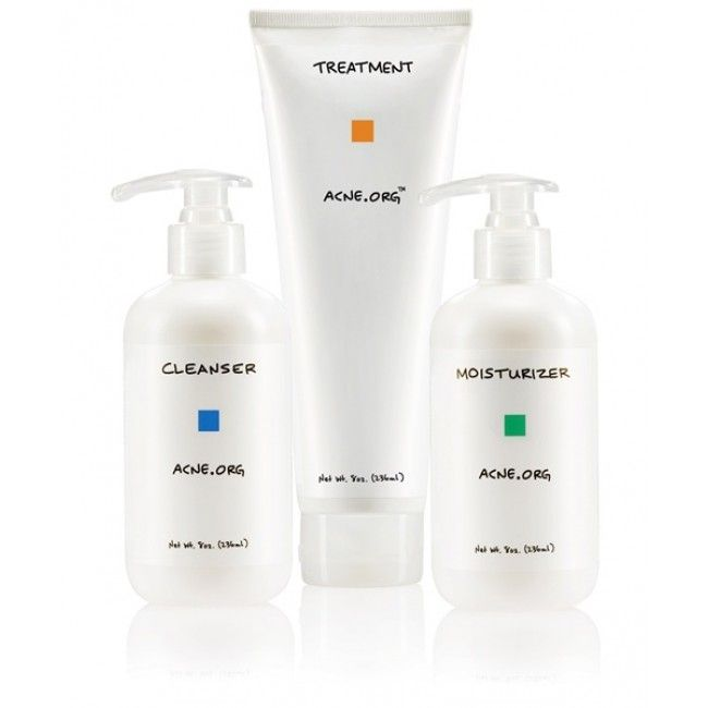 Acne.org Regimen Kit - Cleanser, Treatment, and Moisturizer