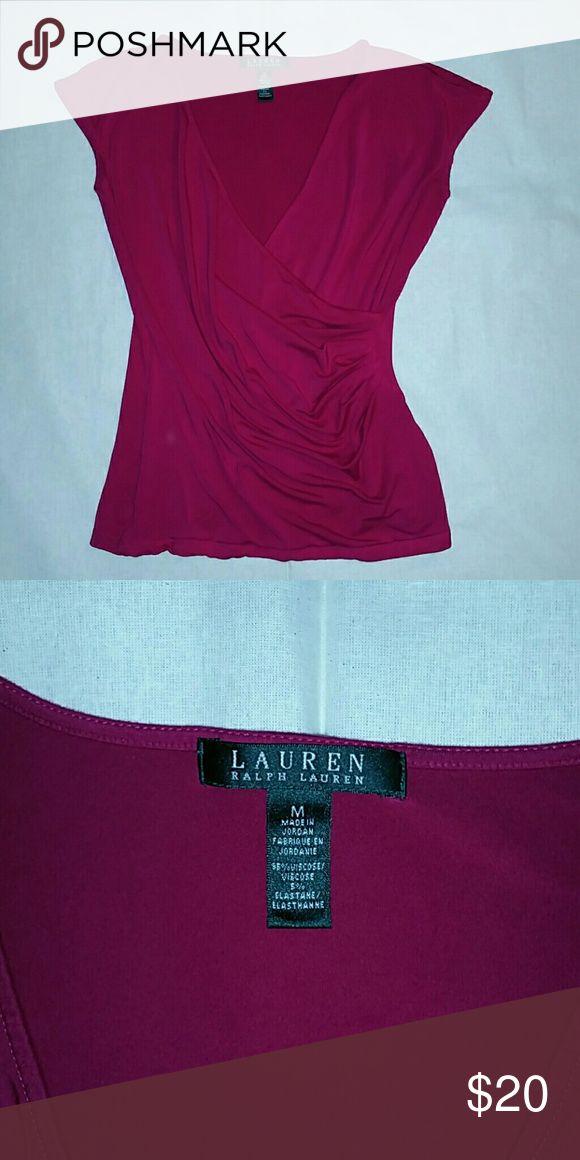 Lauren/Ralph Lauren ladies shirt Magenta Lauren/Ralph Lauren shirt.  Like new. Never worn. Size medium Lauren Ralph Lauren Tops Blouses