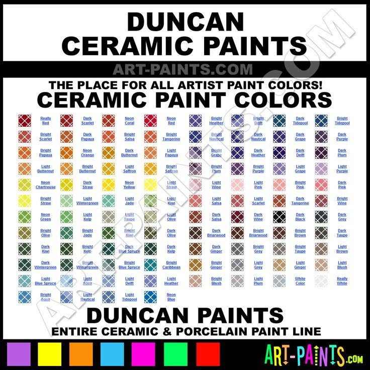 Paint Colors And Brands: Duncan Ceramic Paint Brands