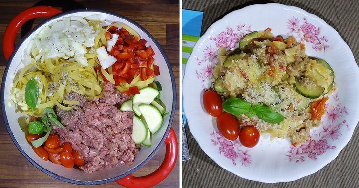 bonapp: Все в одной кастрюле. Паста с овощами и фаршем. One Pot Pasta