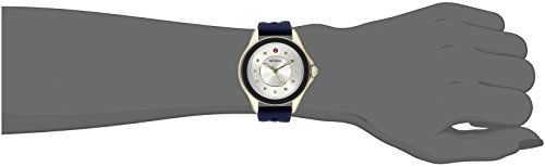 MICHELE Women's MWW27A000013 Cape Analog Display Analog Quartz Blue Watch  Features 11 stones and a stone weight of 0.05Ct Features 11 stones and a stone weight of 0.05Ct Additional functions include luminous hands Features 11 stones and a stone weight of 0.05Ct Features 11 stones and a stone weight of 0.05Ct Additional functions include luminous hands Analog-quartz Movement Features 11 stones and a stone weight of 0.05Ct Features 11 stones and a stone weight of 0.05Ct Additional fun..