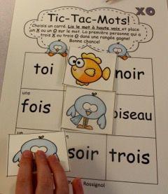 """Jeux de Mots (Le son """"oi"""") Ateliers, No Prep, French Phonics, French immersion)"""