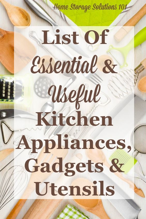 essential gadgets small kitchen appliances list home