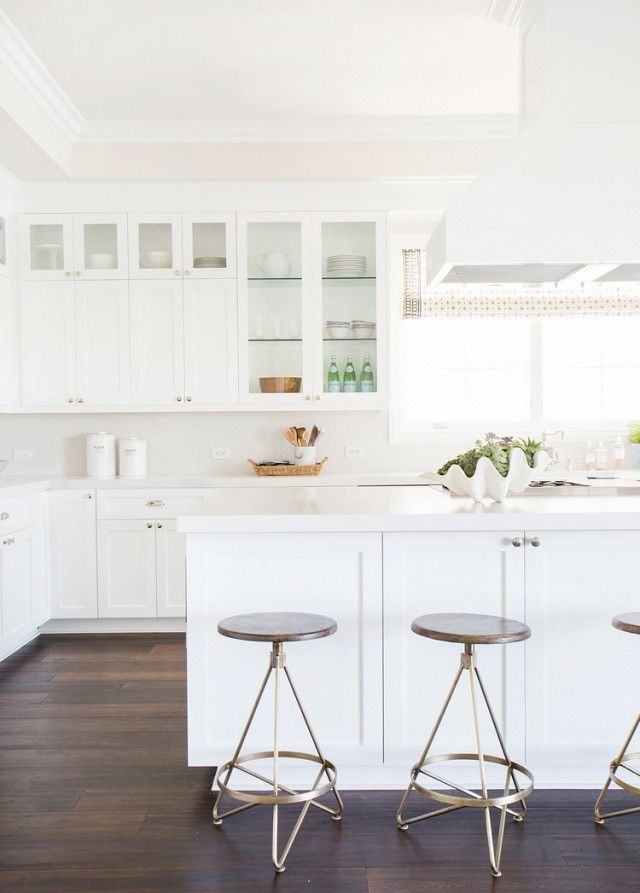 Contemporary White Shaker Kitchen best 25+ all white kitchen ideas on pinterest | white kitchen