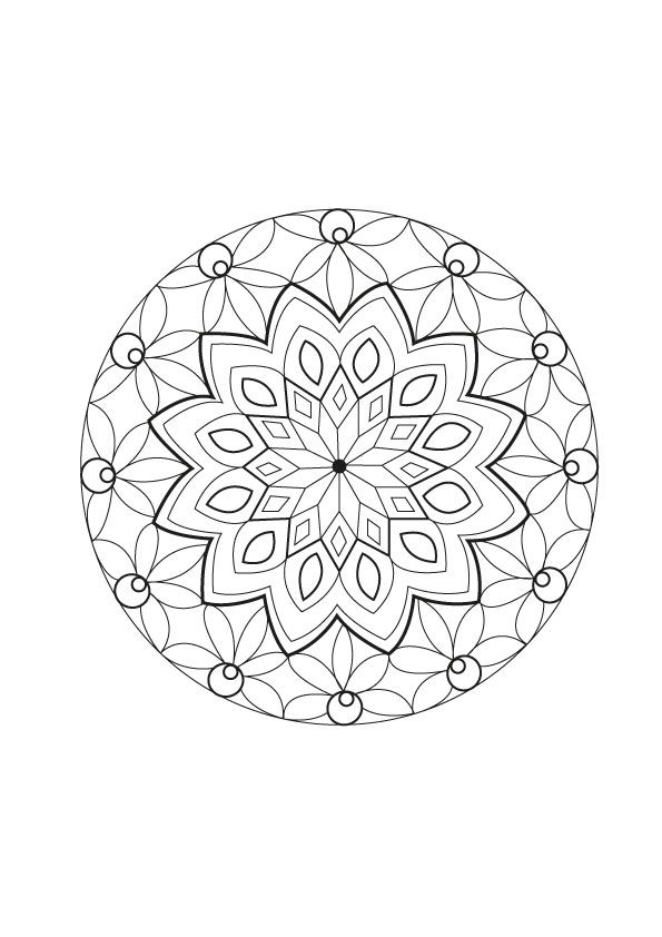 A special Mandala, made by Celine., From the gallery : Mandalas, Artist : Celine