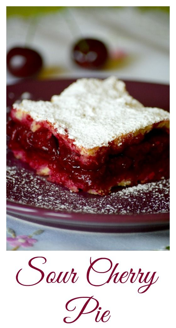 A classic Hungarian summer dessert when you can get the most delicious sour cherries. The filling is baked between two fine-textured layers of pastry. Click for the Hungarian sour cherry pie (Meggyes pite) recipe.