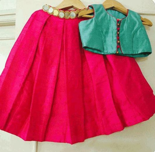 Girls Skirt Type #Lehenga is scintillating and prosperous style for small girls.  Gift her a piece of beauty this #festive season. To #Design: