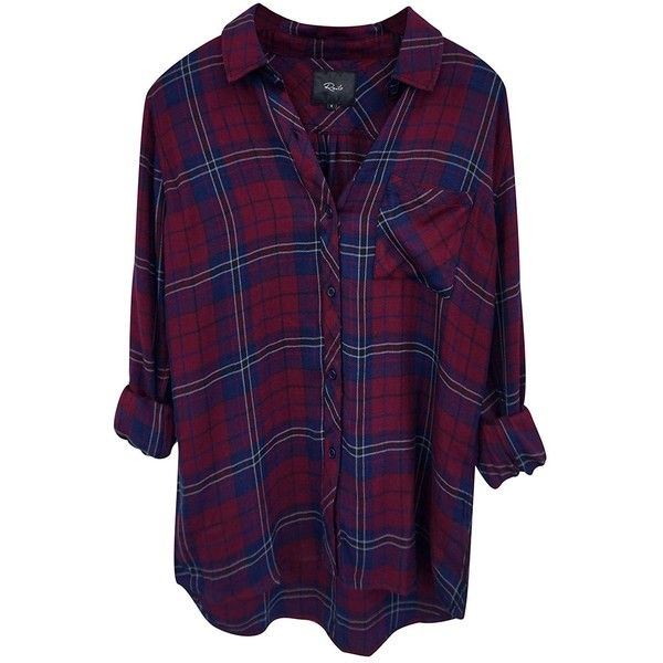 Rails Women's Hunter 1 Pocket Plaid Shirt (40.675 HUF) ❤ liked on Polyvore featuring tops, long sleeved, long sleeve tops, plaid button up shirts, button down shirt, button up shirts and purple plaid shirt