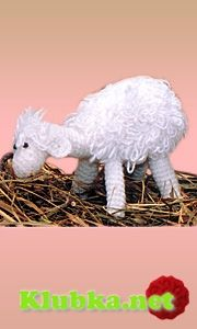 Lamb crocheted