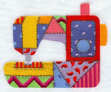 Sewing Patches--Free at Embroidery LIbrary for Sept