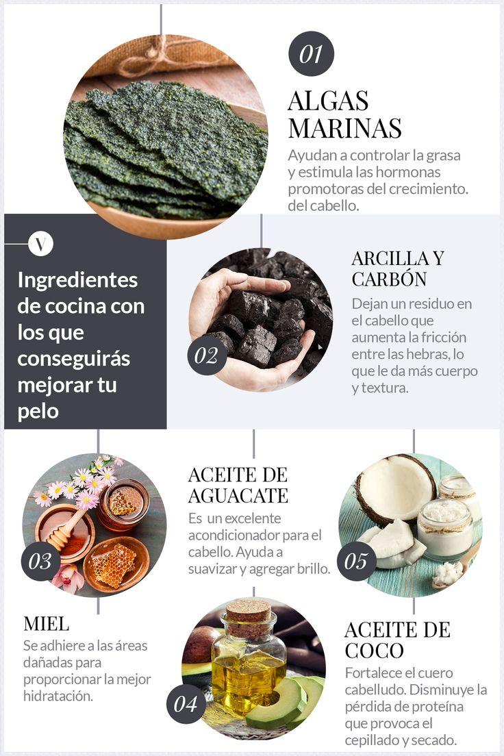 En lugar de incluir estos ingredientes en tu comida de hoy, guárdalos para tu pelo... #Pelo #Marcarilla #MascarillaDePelo #Hair #HairMasks #Hair #HairMask #DIY #DIYHair