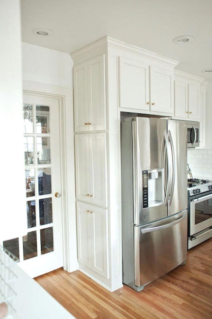 Кухни с невстроенным холодильником фото