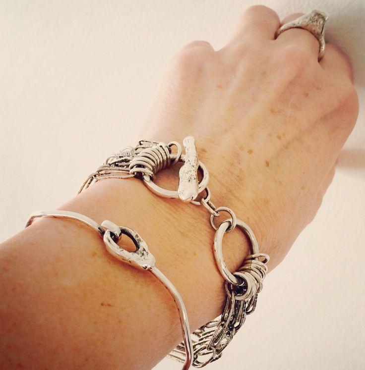 Tom Boy Ring and Clasp Bangle. I Love My Bracelet bracelet!