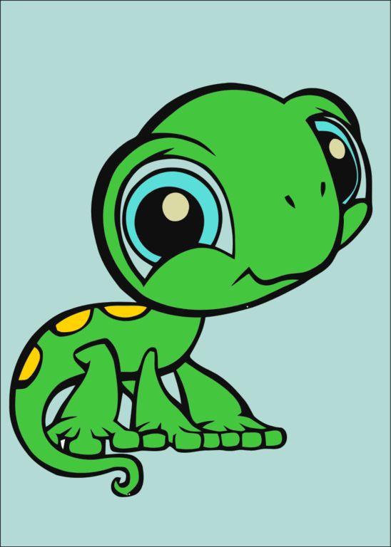 Cute Little Big Eyed Lizard Cartoon Aniamls Pinterest