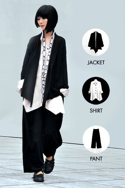 The Anti-Suit in Black Tokyo - Kaliyana. One day I will own some of these pieces.