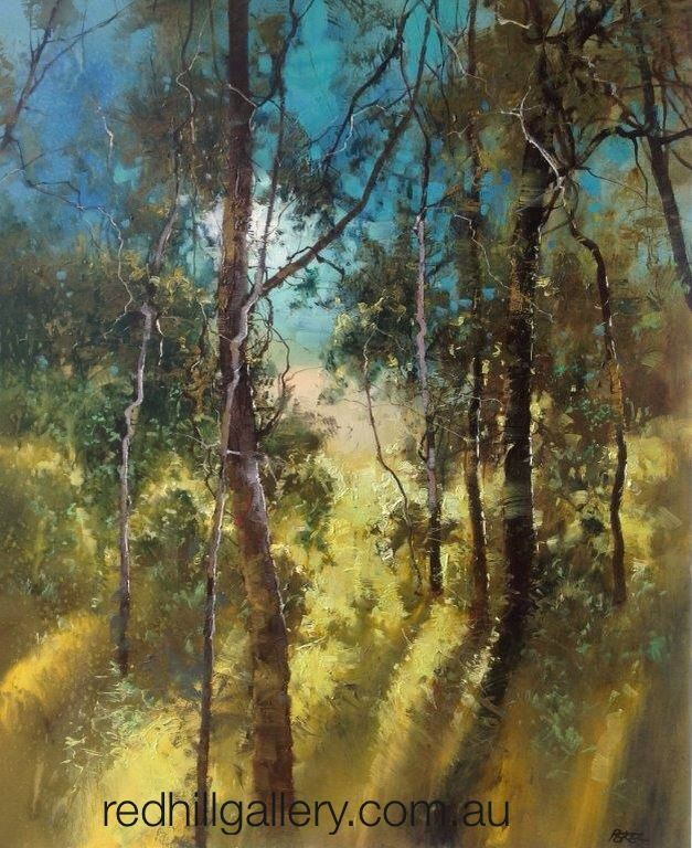 """Oil Painting by Herman Pekel, """"Noosa""""  Hill Gallery, Brisbane. redhillgallery.com.au"""