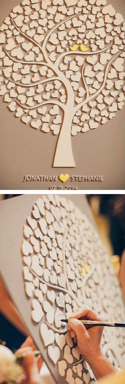 Una alternativa al libro de firmas en las bodas