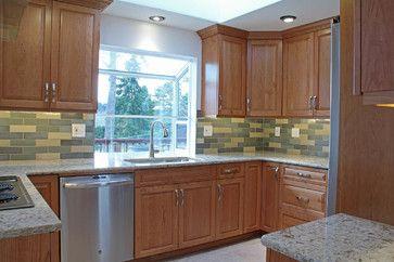 Keystone kitchen with wizard bison brick tile for Keystone kitchens