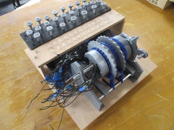 Université Rennes students well on their way to 3D printing a functional code breaking Enigma Machine