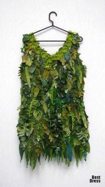 Платье из цветов своими руками