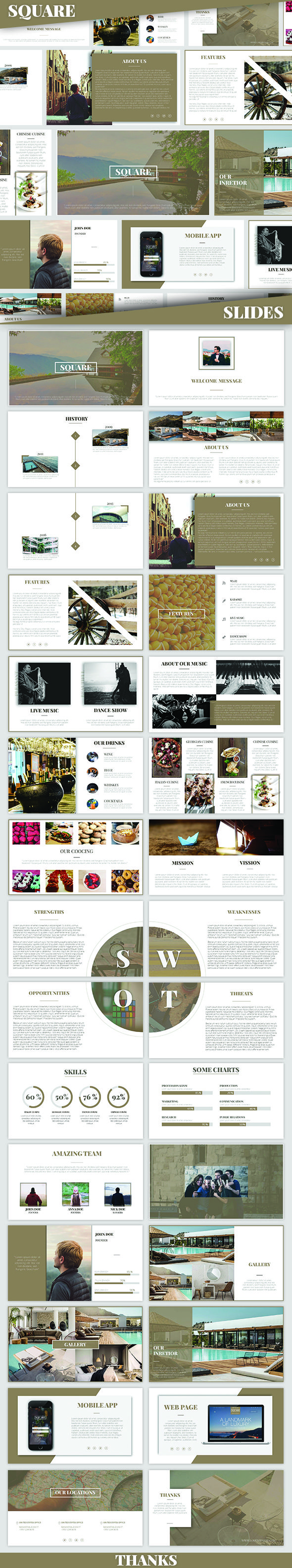 SQUARE - Powerpoint Presentation - PowerPoint Templates Presentation Templates                                                                                                                                                                                 Mais