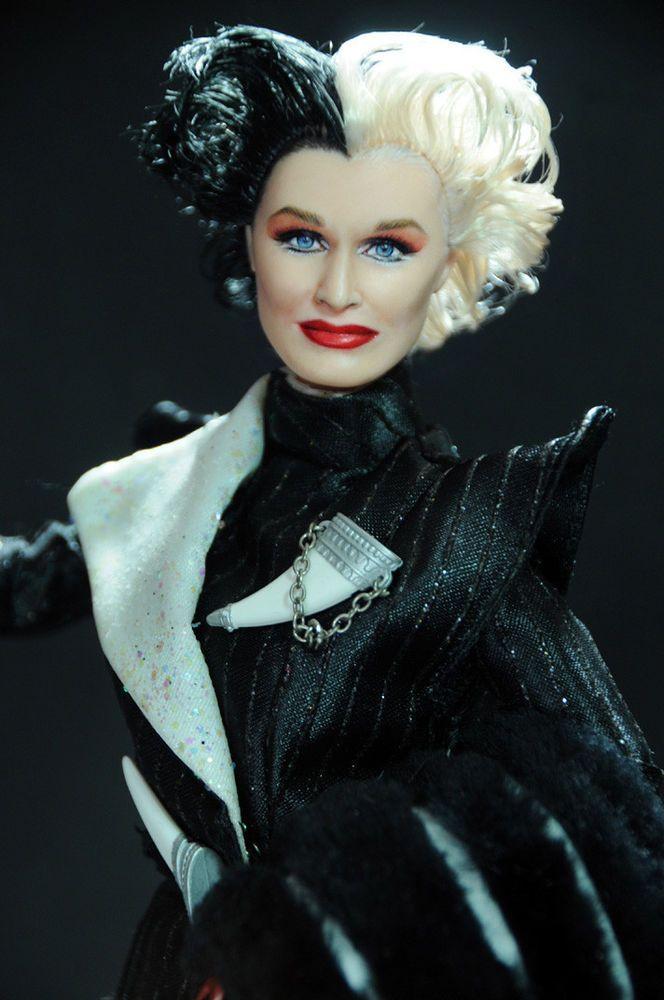 ooak glenn close cruella devil 101 dalmatians doll. Black Bedroom Furniture Sets. Home Design Ideas