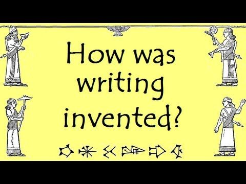 Who invented Writing? What was Cuneiform? Oldest Writing; Ancient Mesopotamia [School History online - YouTube