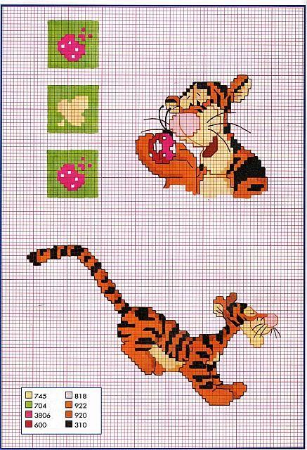 tigro con coccinella punto croce.jpg 437 ×640 pixel