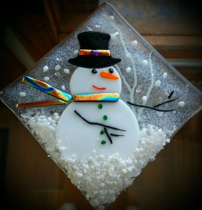 208 best fused glass christmas images on pinterest