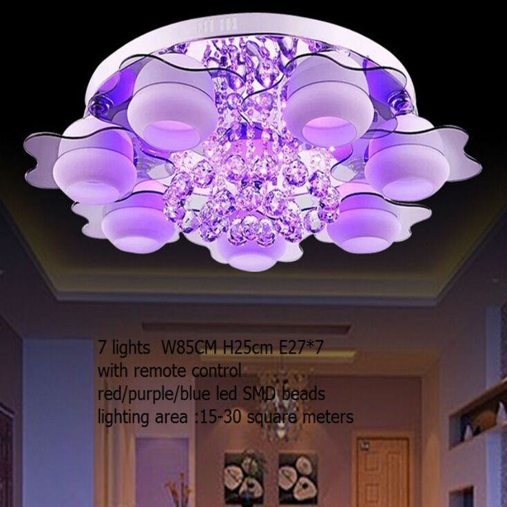 Minimalist Lamp Light Colored Led Bead Remote Control Crystal Chandeliers For Room Flush Mount Ceiling Wall Murals AliExpress