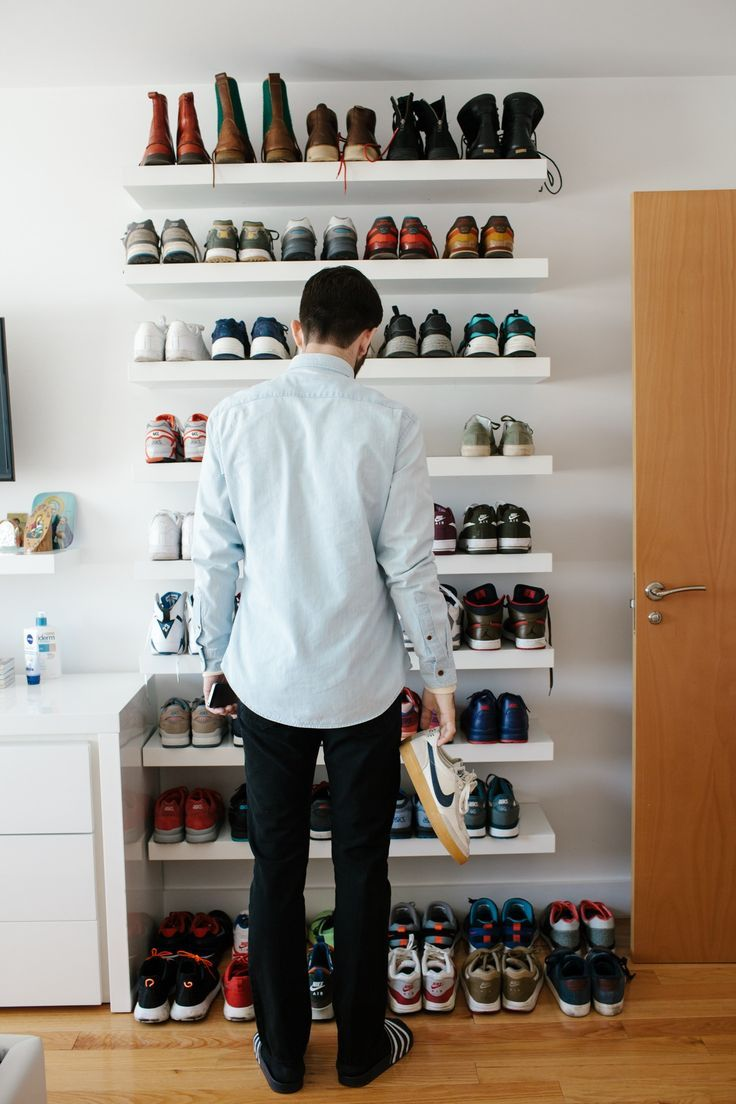 hahaha travis is that you and your shoe collection