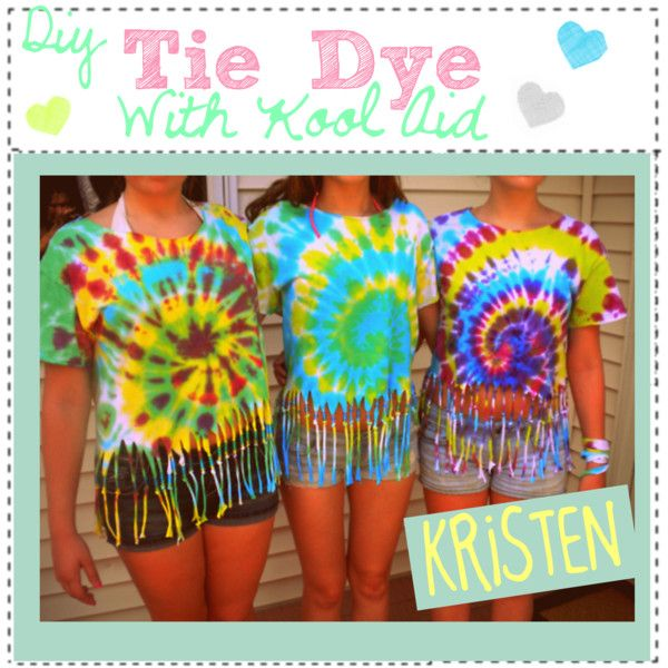 """""""Diy, Tie Dye With Kool Aid:)"""" by the-amazing-tip-chickas on Polyvore"""
