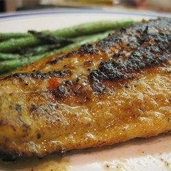 Haddock fillets are simply seasoned with onion powder, paprika, garlic powder, and cayenne pepper in this great-for-busy-days dinner.
