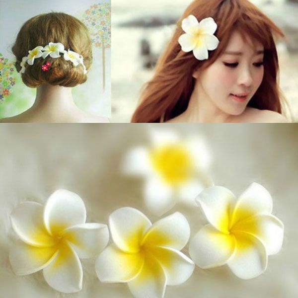 Women-Girl-Gift-Hawaii-Flower-Corsages-Brooch-Pin-Hair-Clip-Wedding-head-flower-Free-Shipping.jpg (600×600)