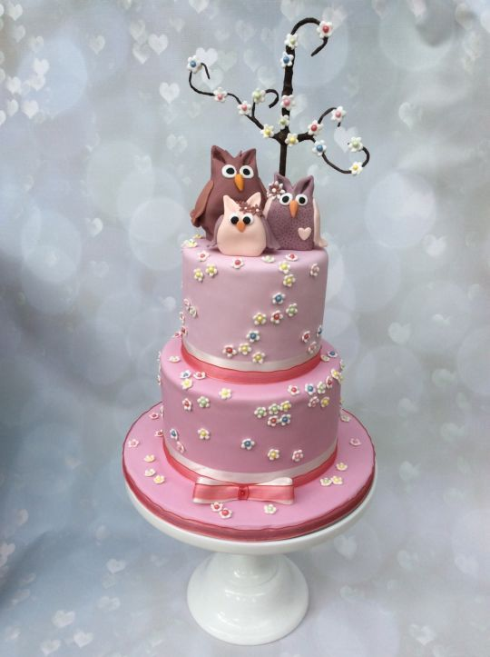 Baby Shower · Owl CakesSculpted ...