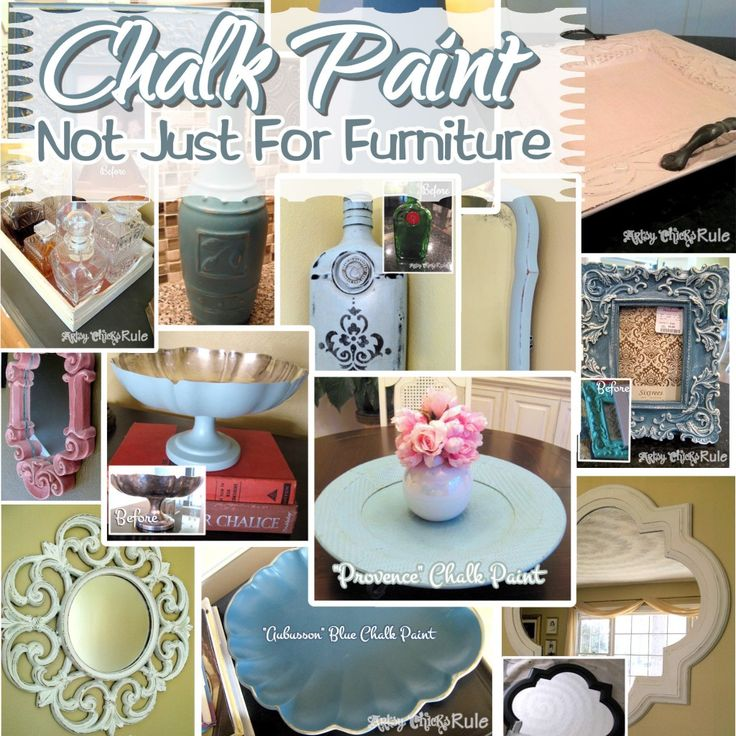 DIY:: Chalk Paint.... It's Not Just For Furniture - Great Post About Small Thrift Decor Project Transformation you can easily do at home !! Artsy Chicks Rule