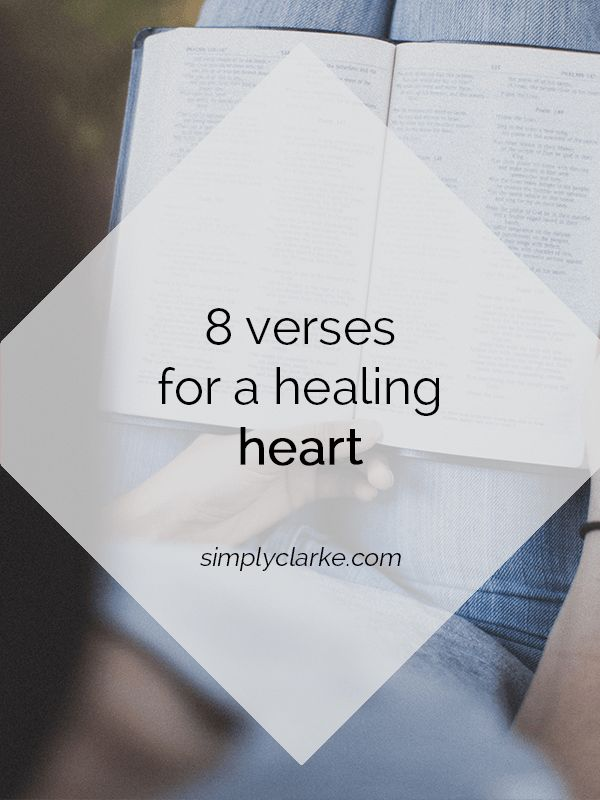 8 Verses for a Healing Heart - Simply Clarke