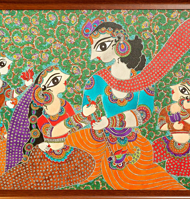 easy madhubani paintings in black and white for kids - Google Search