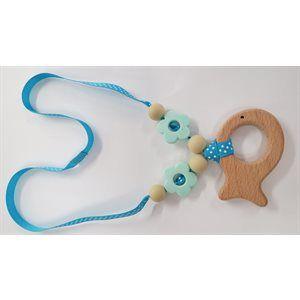 collier pour bébé - Poisson bleu